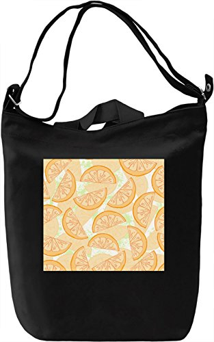 Lemon Print Borsa Giornaliera Canvas Canvas Day Bag| 100% Premium Cotton Canvas| DTG Printing|