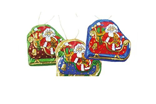 Storz Chocolate Santa Sleigh Ornaments Solid Milk Chocolate - 5 Piece Pack