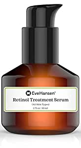 Retinol Serum Treatment: Pure and Natural Vitamin A Serum to Combat Wrinkles and Fine Lines. 1.75 Ounces.