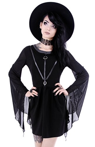 Restyle Gothic Punk Witchcraft Asymmetric Coven Tunic Dress - Black (L)
