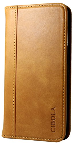 Huawei Mate 10 Pro Case, CIBOLA Genuine Leather Wallet Case Folio Book Design with KickStand, Credit Card Slots and Magnetic Closure Protective Cover for Huawei Mate 10 Pro (Brown, Huawei Mate 10 Pro)