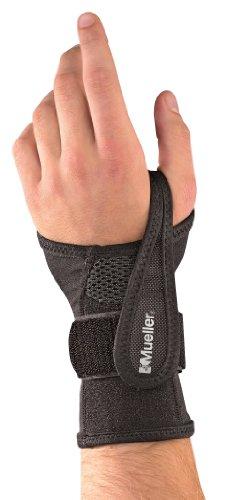 Mueller Sports Medicine Adjustable Wrist Brace, Black, Small