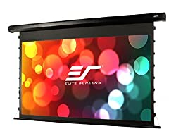 Elite Screens Cinetension2 100 Inch 16 9 Tab Tensioned Electric Drop Down Projection Projector Screen Te100hc2
