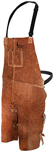 Bob Dale Gloves 601636 Welding Apron Leather Split Leg Bib Apron 24x36 Brown,