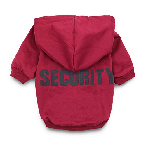 (DroolingDog Dog Clothes Security Pattern Medium Dog Hoodie Dogs Sweatshirt for Dogs, XL, Maroon)