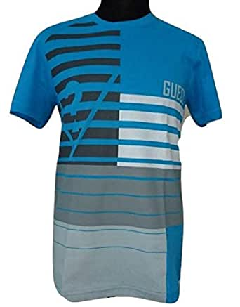 Guess Aegean Blue Round Neck T-Shirt For Men