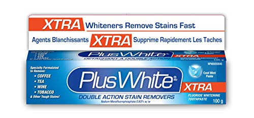 Plus White Whitening + Protection Toothpaste, Xtra Whitening Power Cool & Crisp Mint, 3.5 oz (Pack of 6)