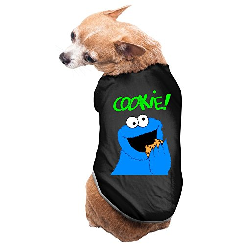 Zac Power Costume (Aip-Yep Unique Sesame Street Cookie Pet Doggy Tshirt Black Size S)