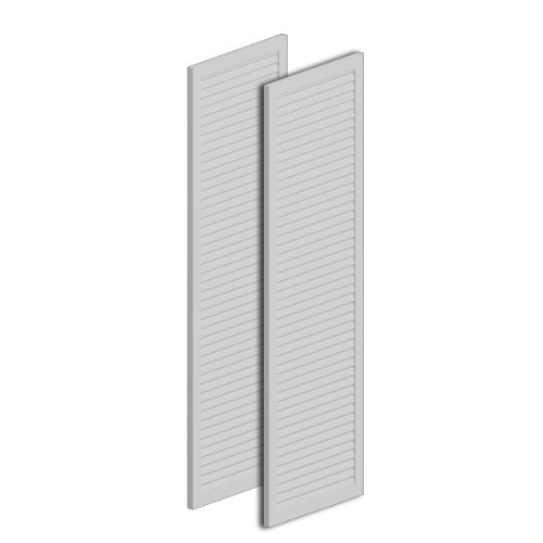 16''W x 72''H x 1''P Louvered Shutter, Urethane (Per Pair) by Fypon