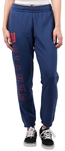 NFL Women's New York Giants Jogger Pants Relax Fit Fleece Sweatpants, Small, Blue ()