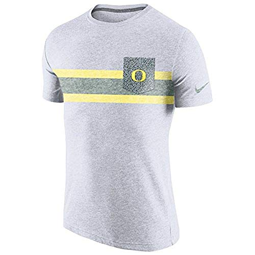 NIKE Oregon Ducks Tri-Blend White Vibe Pocket T-Shirt (XX-Large) ()