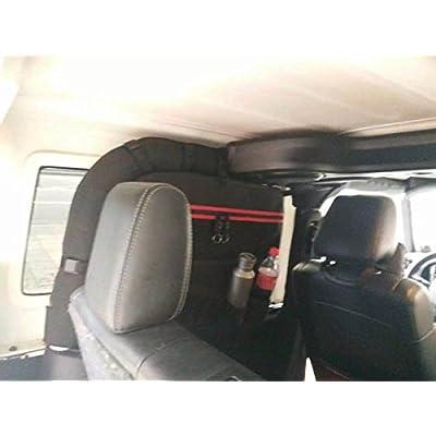 MOEBULB Roll Bar Storage Bag Cage Cargo Saddlebag for 1997-2020 Jeep Wrangler JK TJ LJ & Unlimited 2-Door Multi-Pockets Tool Kits Bottle Drink Phone Tissue Gadget Holder (2-Door, 1-Pack): Automotive