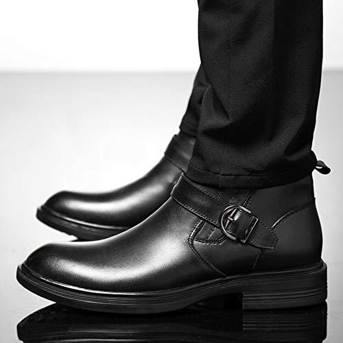 Scarpe Con Per Large In Booties Martin Male Uomo Lavoro Outdoor In Metallo Da Stivali Black2 Reale Fibbie Size Yra Pelle Stivaletti dZPCd