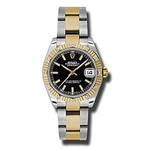 Rolex Datejust Black Dial Women's Watch 178313