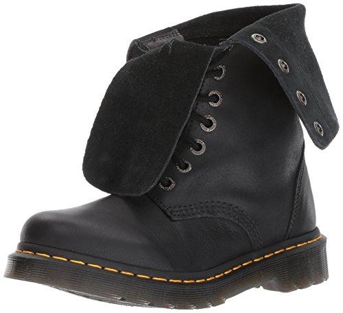 Dr. Martens Womens Hazil Boot Black Virginia Leather Fashion