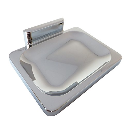 LASCO 35-5007 Hallmack Style Soap Dish Bathroom Accessory, All Metal Construction, Chrome Plated Finish
