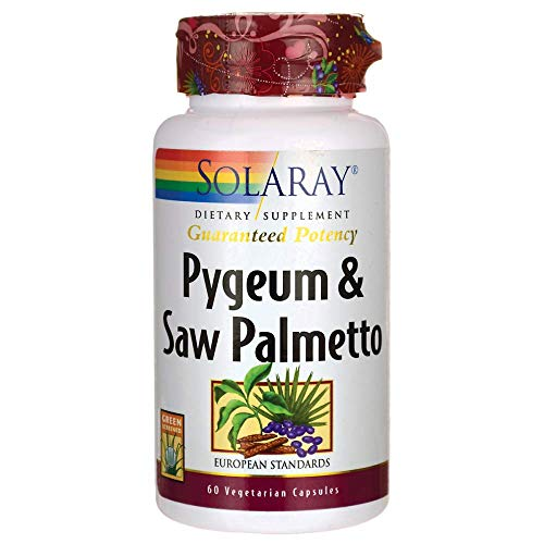 Solaray Pygeum and Saw Palmetto Supplement, 60 Count