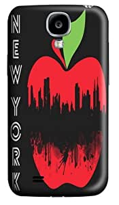 new york apple Custom Samsung Galaxy I9500/Samsung Galaxy S4 Case Cover Polycarbonate 3D