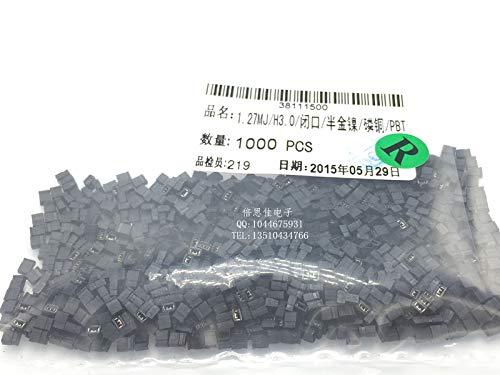 Davitu 100pcs/1.27mm pitch short-circuit hood jumper cap short-circuit block shunt H3.0