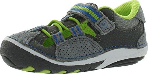 Stride Rite SRT SM Elijah Shoe (Infant/Toddler),Grey/Green/Blue,5.5 M US Toddler