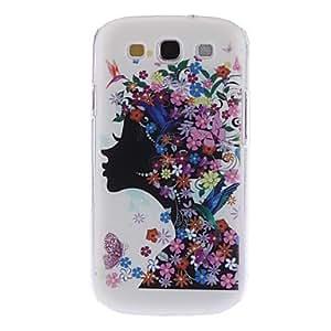 GONGXI- Caso duro del patrón Fashion Girl para Samsung Galaxy S3 I9300