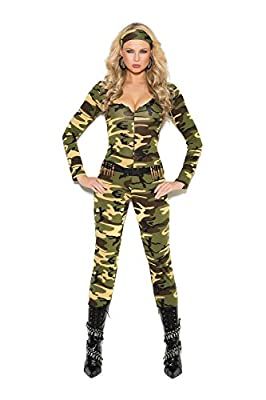 Women's Sexy Military Soldier Cosplay Costume Set