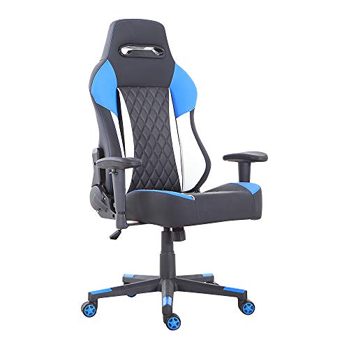 LCH High-Back Gaming Office Chair Ergonomic Racing Style Executive Computer Chair PU Leather, Blue Review