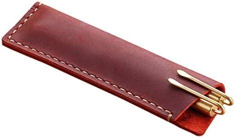 ForeWan - Estuche de piel para bolígrafos, diseño retro: Amazon.es: Oficina y papelería