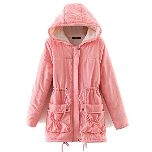 Velluto Rosa Giacche Plus Spesso Oversize Rkbaoye Cardigan Con Cappuccio Womens Cappotto BFaUfwqT