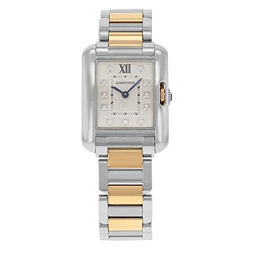 Cartier-Tank-Anglaise-Small-Silver-Dial-Stainless-Steel-18kt-Rose-Gold-Ladies-Watch-WT100024