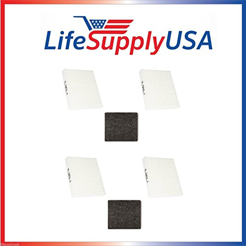 2 Complete Sets for Honeywell HRF-ARVP True HEPA Filter Value Combo Pack (4 HEPA filters and 2 Pre-filters) HPA090, HPA100, HPA200, HPA300 by LifeSupplyUSA