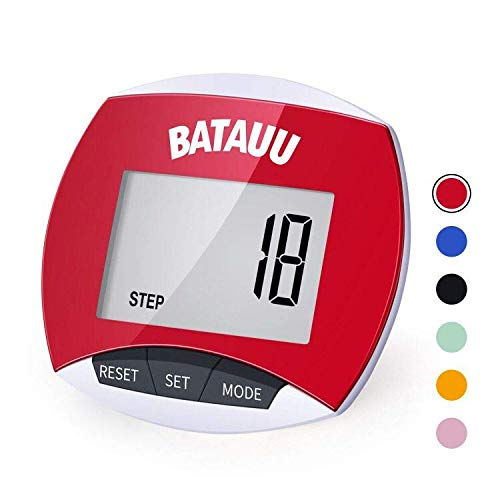 - BATAUU Best Pedometer, Simply Operation Walking Running Pedometer with Calories Burned and Steps CountingCalorie Counter, Activity Time(Orange)