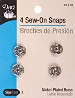 Dritz Sew-On Snaps Nickel Size 3