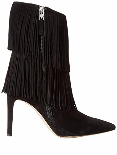 Spring Black High Autumn EUR36UK354 BLACK NVXIE Boots Suede Shoes Brown Pointed Women Stiletto Ankle Winter Ladies Short Tassel Heel xPwgP6qC