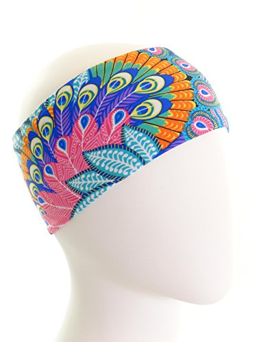 Ice cream INTENSITY Peacock Blue Fitness Headband: No slip, Antibacterial, Hypoallergenic and Thermo Regulating