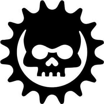 Dc00737 Skull Cog Gears Of War Vinyl Car Window Decal Sticker 20