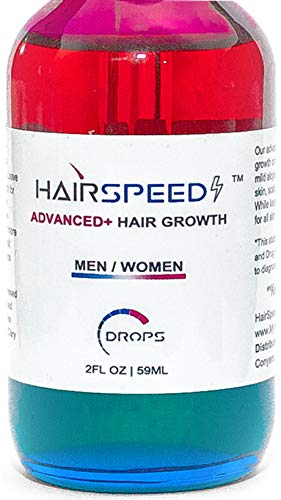 Hair Speed Advanced | Organic Vegan Natural Hair Growth Oil Drops - Hair Regrowth with Golden Jojoba Oil, Tea Tree Peppermint Rosemary Lavender + Essential Oil - Hair Loss Product - Men & Women | 2oz