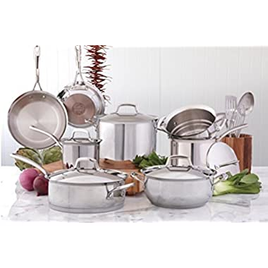 Kirkland Signature 18/10 Stainless Steel 13-piece Cookware Set