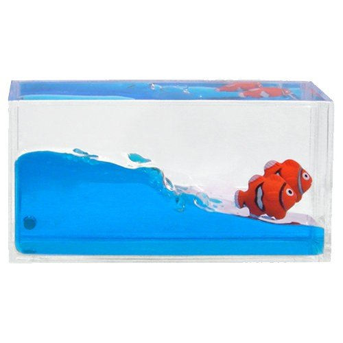 liquid tropical fish paperweight - mini