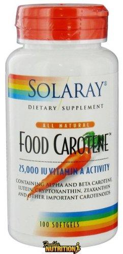 Solaray - Food Carotene All Natural 25,000 IU Vitamin A Activity 100 Softgels