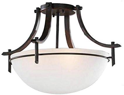 Dark Bronze 3-Light Ceiling Fixture