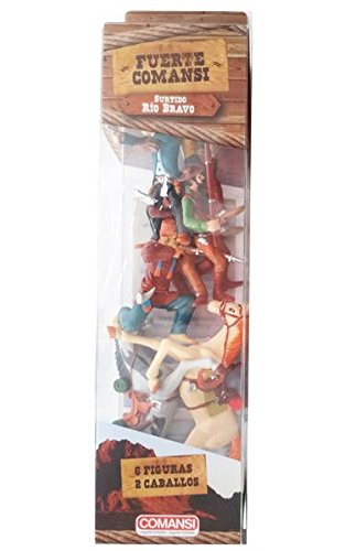 Comansi Tubo Figuras Del Oeste 8 Figuras (Modelos Surtidos: Far West o Gran Cañón) 8412906201313