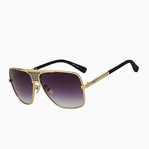 W gafas sol marrón UV400 verano Black Vintage w Sol gafas más del oro de sol de marca estilo de de nuevo sobredimensionado Oculos TIANLIANG04 de marrón hombre diseñador de bastidor lens Gafas smoke fw4aEa