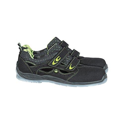 Luftige Sicherheitsschuhe BRC-RIEMANN 40-47 Arbeitsschuhe Sandale Sicherheitssandale schwarz-grau-grün