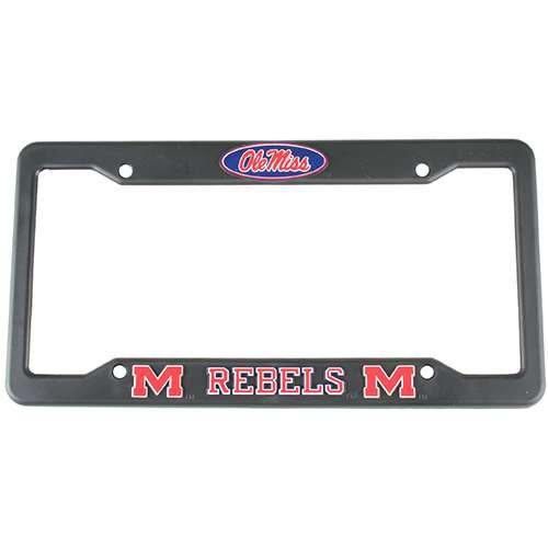 Mississippi Rebels License Plate Frame (Mississippi Ole Miss Rebels Plastic License Plate Frame)