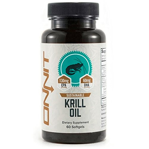 Onnit Krill Oil (60ct) 1000 Milligram Per Serving with Astaxanthin Supports Cognitive, Cardiovascular, Heart, and Joint Health