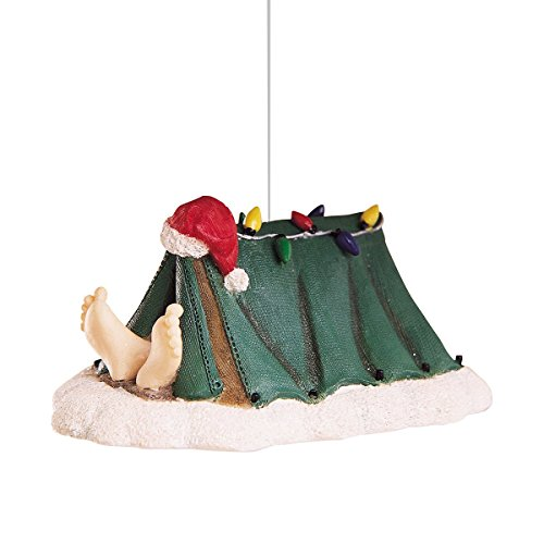 Santa's Feet From Tent made our list of the most unique camping Christmas tree ornaments to decorate your RV trailer Christmas tree with whimsical camping themed Christmas ornaments!