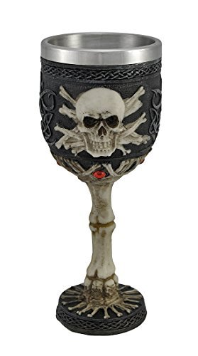 Ossuary Style Skull and Bones Port Wine Goblet Gothic 3 Oz by Not Just an Empty Box 3 Oz Wine Goblet