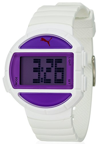 Puma Half Time Purple Digital White Polyurethane Mens Watch PU910892002