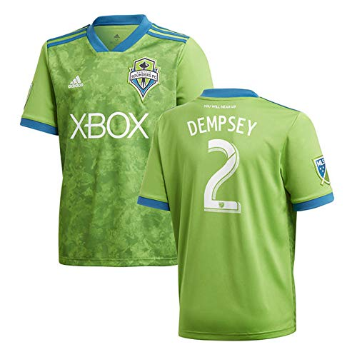 Dempsey Jersey - adidas Clint Dempsey Seattle Sounders FC 2018 Rave Green Replica Jersey (Large)